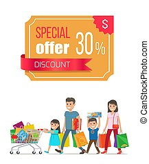 Special Offer Discount Promo Poster with People