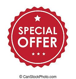 special offer over white background  vector illustration