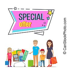 Special Offer for Big Family Shopping Promotion