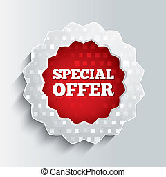 Special offer glass star button.