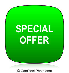 special offer green icon