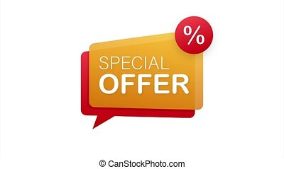Special Offer grunge style red colored. Discount label. stock illustration