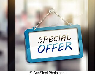 special offer hanging sign