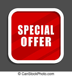 Special offer icon. Flat design square internet banner.