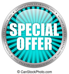 Special offer icon on white background