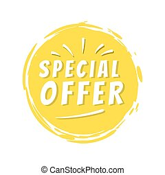 Special Offer Inscription on Yellow Painted Spot - Special ...