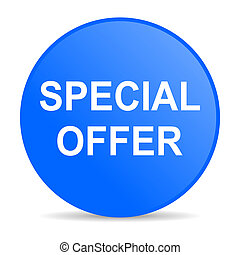 special offer internet blue icon