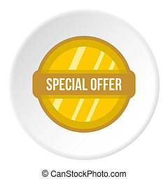 Special offer label icon circle