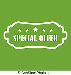 Special offer label icon green
