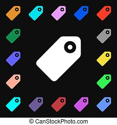 Special offer label icon sign. Lots of colorful symbols for your design. Vector