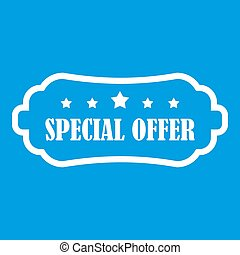 Special offer label icon white