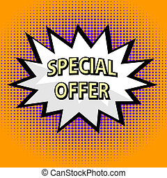 Special offer label in popart style