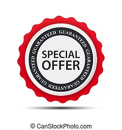 Special Offer Label Template. Vector Illustration