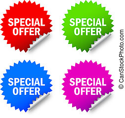 Special offer labels - Vector special offer labels