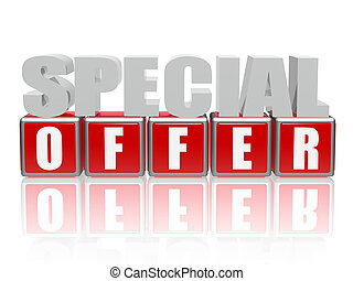 special offer - letters and cubes - 3d color letters and ...