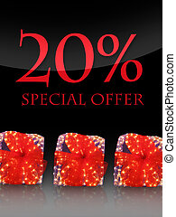 Nice lighted Presents in the christmas time with special offer