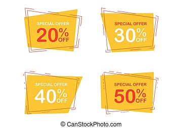 special offer off signs concept