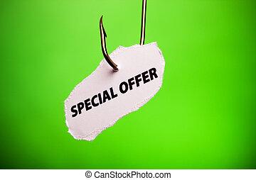 Special offer on hook - Hook concept