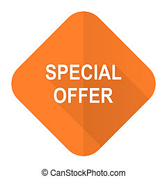 special offer orange flat icon