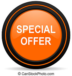 special offer orange icon