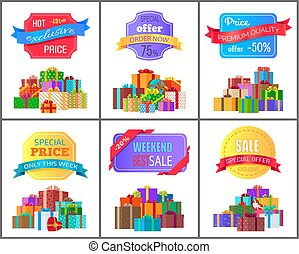 Special Offer Order Labels on Posters Gift Boxes