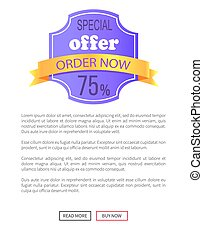 Special Offer Order Now 75 Percent Off Discount