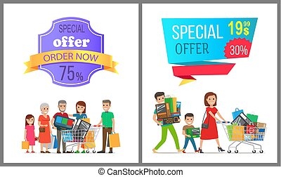 Special Offer Order Now Colorful Discount Banner