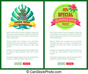Special Offer Order Today Off Promo Posters Set