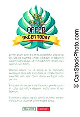 Special Offer Order Today with 15 Off Promo Logo