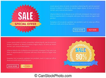 Special Offer Premium Promotion Sale Round Labels