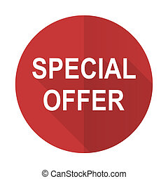 special offer red flat icon