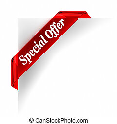 Special Offer - Red glass top banner. Part of a series.