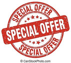 special offer red grunge round vintage rubber stamp