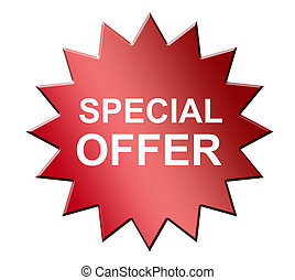 Special Offer - Red special offer laber over white...