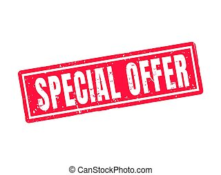 special offer red stamp style