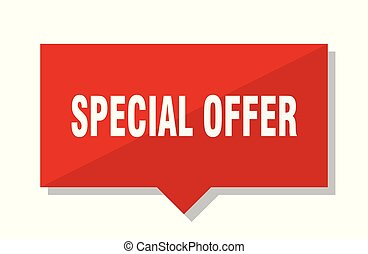 special offer red tag