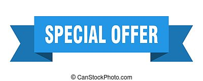 special offer ribbon. special offer isolated sign. special offer banner