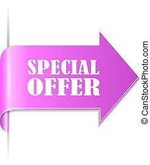 Special offer ribbon