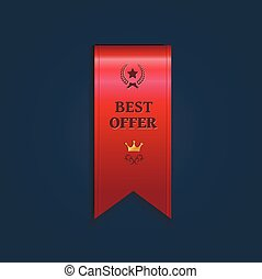 Special offer ribbon - vector illustration
