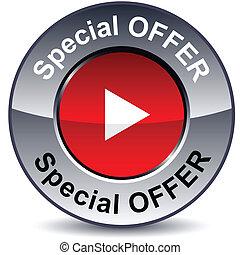 Special offer round button.