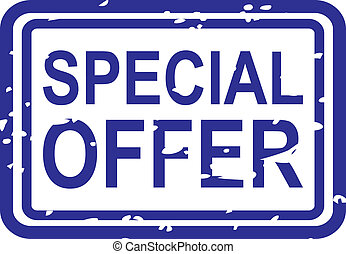 Special Offer Rubber Stamp - Blue rubber stamp vector for ...