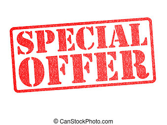 SPECIAL OFFER Rubber Stamp over a white background.