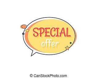 Special Offer Sale Advertisement in Speech Bubble