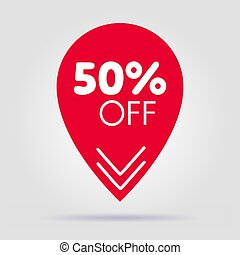 Special offer sale red tag isolated vector illustration