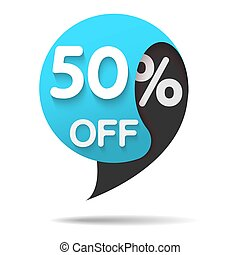 sale red tag isolated vector illustration.