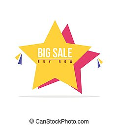Special offer sale star price label
