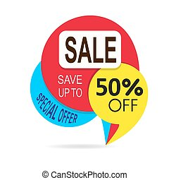 Special offer sale tag discount