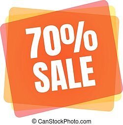 Special offer sale tag. Discount symbol retail. Colorful sticker sign price isolated from white background. Label in modern graphic style vector illustration for black friday or bargain sale.