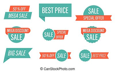 Special offer sale tag vector illustration
