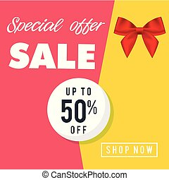Special Offer Sale Up To 50% Off Shop Now Vector Image